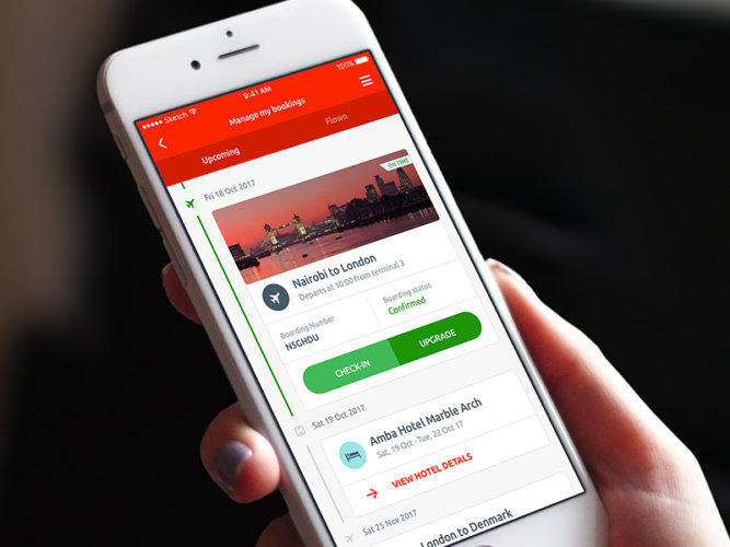 Kenya Airways – UI Design